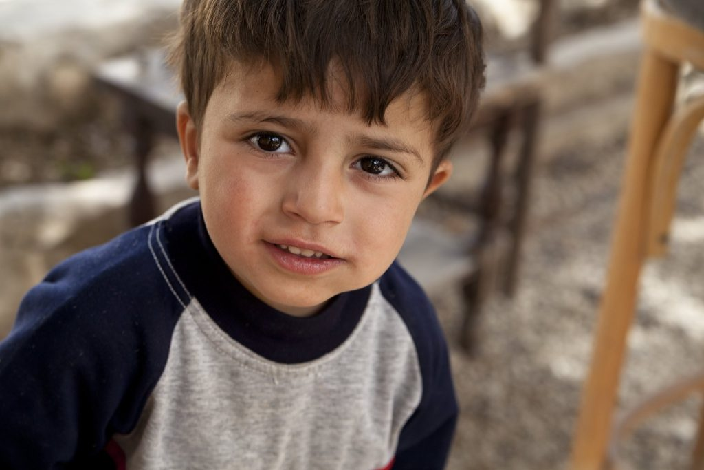 Syrian refugee child